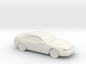 1/87 1998-2004 Ford Mustang  in White Natural Versatile Plastic