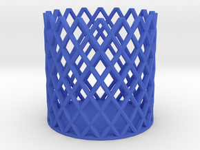 Pen Stand in Blue Processed Versatile Plastic