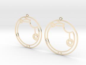 Alicia / Alisia - Earrings - Series 1 in 14K Yellow Gold