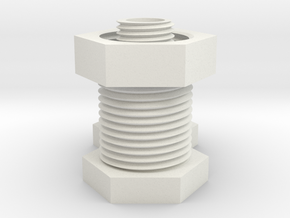 Trick Bolt Puzzle in White Natural Versatile Plastic