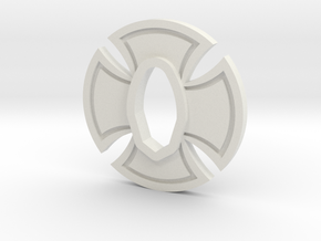 Cold Steel Wakazashi Tsuba - Iron Cross in White Natural Versatile Plastic