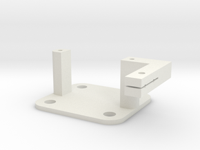 SG90 Servo Mount - Type 3 in White Natural Versatile Plastic