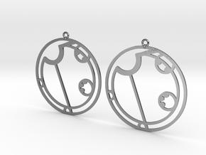 Alyssa - Earrings - Series 1 in Polished Silver