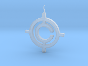 The Conspiracy Pendant in Smooth Fine Detail Plastic
