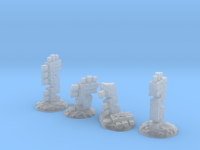 Serpent Columns (15mm high) in Smooth Fine Detail Plastic