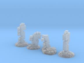 Serpent Columns (24mm high) in Smooth Fine Detail Plastic