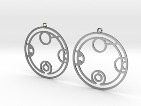 Bethany - Earrings - Series 1 in Polished Silver