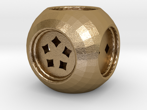 Dice30 in Polished Gold Steel