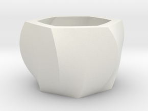 Hexapot Planter in White Natural Versatile Plastic