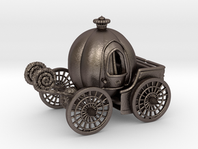 Pumpkin carriage LV2 in Polished Bronzed Silver Steel