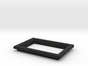 """OLED 0'96"""" Beveled Frame  in Black Natural Versatile Plastic"""