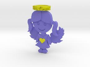 Pendant Full Color Blue Angel Girl in Full Color Sandstone