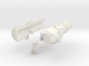 Brawn Cannon in White Natural Versatile Plastic