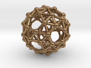 Snub Dodecahedron (right-handed) in Natural Brass