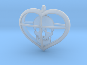 Skull Heart (1) in Smooth Fine Detail Plastic