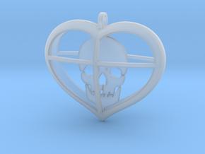 Skull Heart (1) in Smooth Fine Detail Plastic