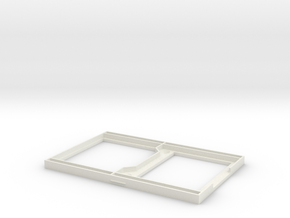 "3.2"" TFT Sainsmart Displayhousing bottom in White Natural Versatile Plastic"