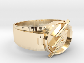 Flash Ring Size 9.5 19.41mm  in 14K Yellow Gold