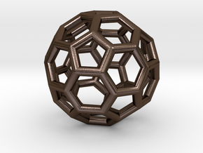 Buckyball Pendant in Polished Bronze Steel