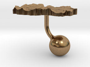 Macedonia Terrain Cufflink - Ball in Natural Brass