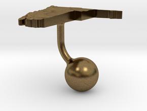 Namibia Terrain Cufflink - Ball in Natural Bronze
