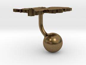Netherlands Terrain Cufflink - Ball in Natural Bronze