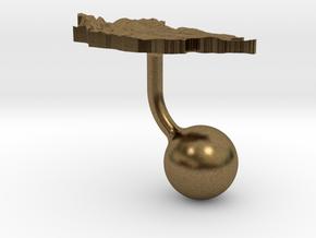 Mongolia Terrain Cufflink - Ball in Natural Bronze