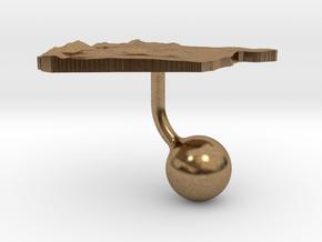 Syria Terrain Cufflink - Ball in Natural Brass