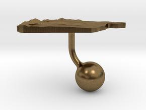 Syria Terrain Cufflink - Ball in Natural Bronze