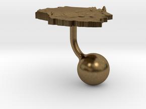 Tanzania Terrain Cufflink - Ball in Natural Bronze