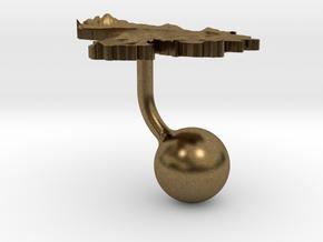 Venezuela Terrain Cufflink - Ball in Natural Bronze