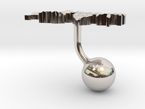 Switzerland Terrain Cufflink - Ball in Platinum
