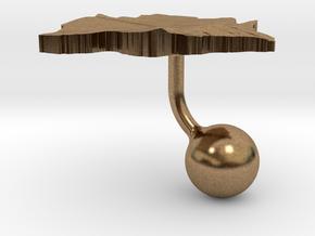 Botswana Terrain Cufflink - Ball in Natural Brass