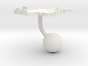 France Terrain Cufflink - Ball in White Natural Versatile Plastic