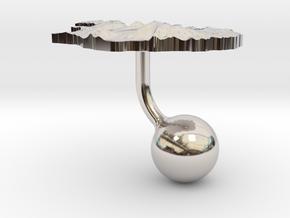 Iceland Terrain Cufflink - Ball in Platinum