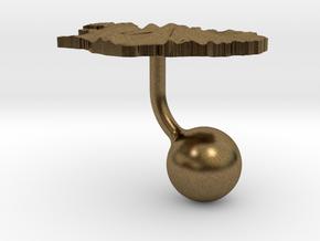 Iceland Terrain Cufflink - Ball in Natural Bronze