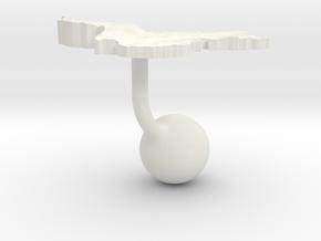 China Terrain Cufflink - Ball in White Natural Versatile Plastic