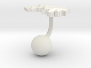 Guinea Terrain Cufflink - Ball in White Natural Versatile Plastic