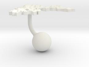 Greece Terrain Cufflink - Ball in White Natural Versatile Plastic