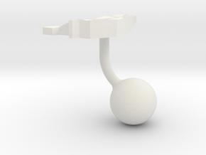 Liechtenstein Terrain Cufflink - Ball in White Natural Versatile Plastic