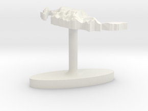 Mexico Terrain Cufflink - Flat in White Natural Versatile Plastic