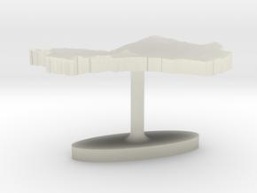 Mali Terrain Cufflink - Flat in Transparent Acrylic