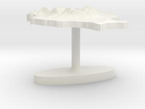 Romania Terrain Cufflink - Flat in White Natural Versatile Plastic