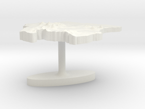 Suriname Terrain Cufflink - Flat in White Natural Versatile Plastic