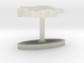 Serbia Terrain Cufflink - Flat in Transparent Acrylic