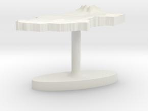 Chad Terrain Cufflink - Flat in White Natural Versatile Plastic