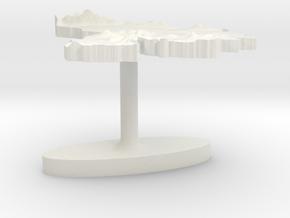 Venezuela Terrain Cufflink - Flat in White Natural Versatile Plastic