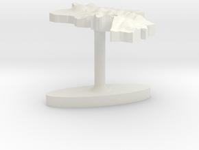 Armenia Terrain Cufflink - Flat in White Natural Versatile Plastic