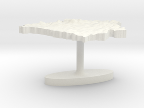 Belarus Terrain Cufflink - Flat in White Natural Versatile Plastic