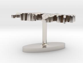 Switzerland Terrain Cufflink - Flat in Platinum